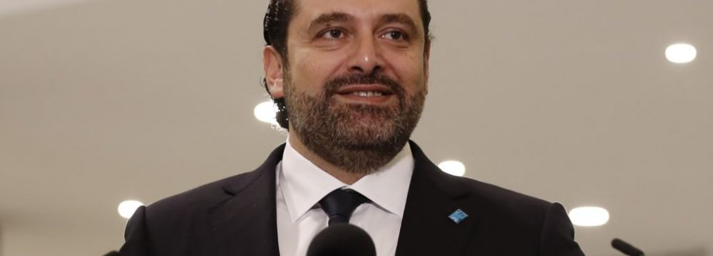 Hariri Rejects Israel's Anti-Iran Claim