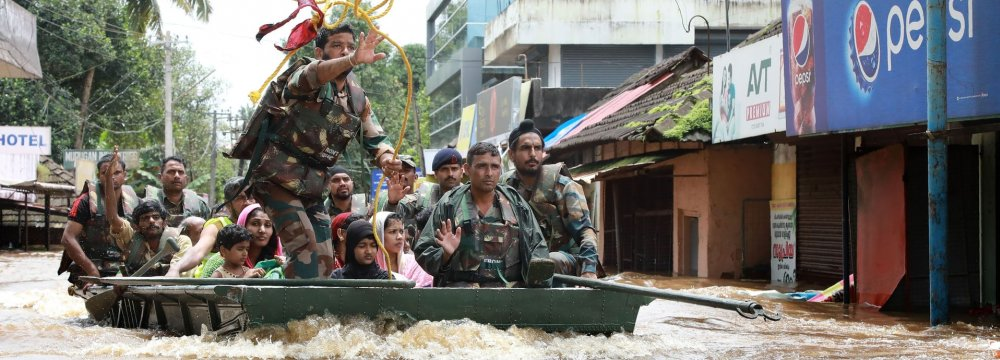 Kerala has been reeling under murderous monsoon, which hasclaimed 324 lives.