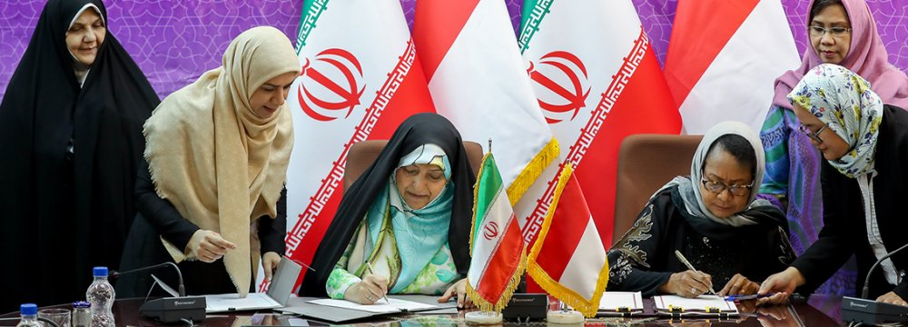 MoU With Indonesia to Empower Women