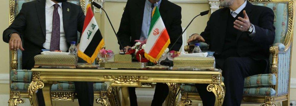 Top Iranian, Iraqi MPs Confer