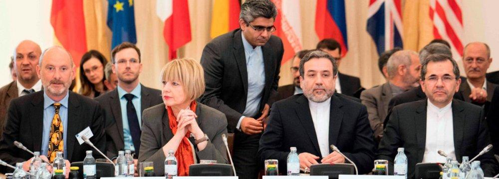 Deputy FM Abbas Araqchi and EU political director, Helga Schmid