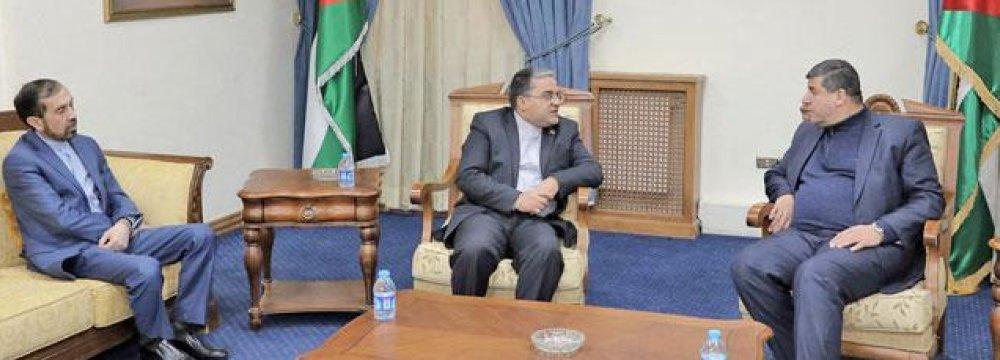 Envoy Meets Jordan MP on Palestine