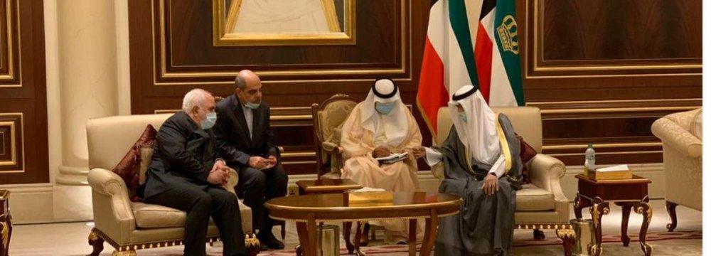 Zarif Meets New Kuwaiti Emir