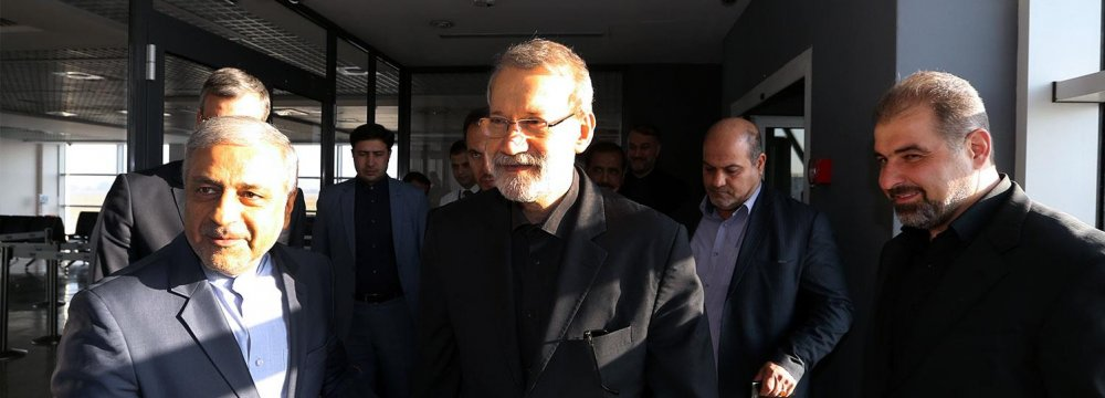 Larijani in Serbia to Attend IPU Meeting