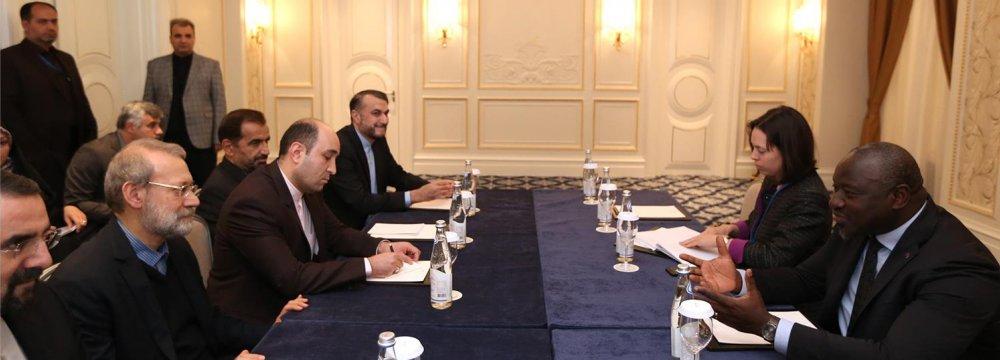 Larijani Meets CTBT Chief