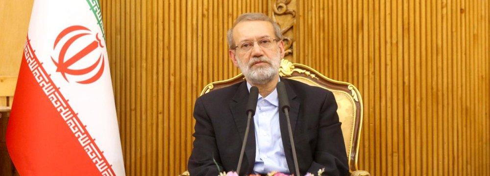Larijani Briefs Reporters on Visits to Syria, Lebanon
