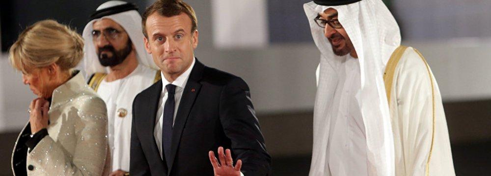 Macron Seeking Middle Ground Between Iran, US