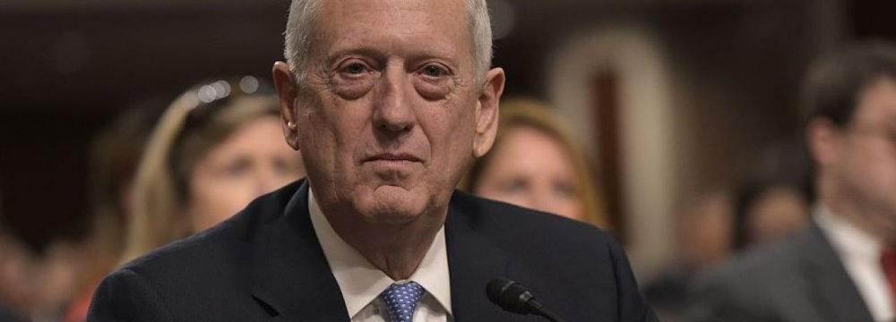 Mattis: Staying in Iran Deal in US Interest