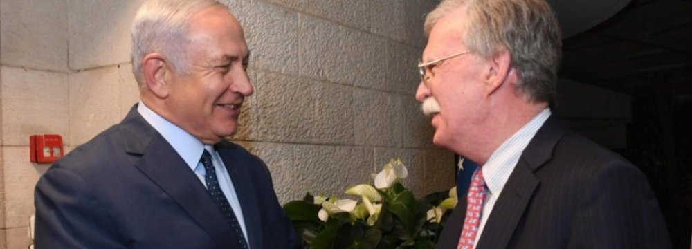 Bolton, Netanyahu Discuss Iran