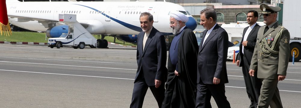 Rouhani in Astana for OIC Summit