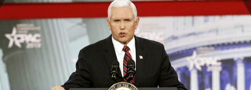 Pence Reiterates Trump's Hostile Rhetoric