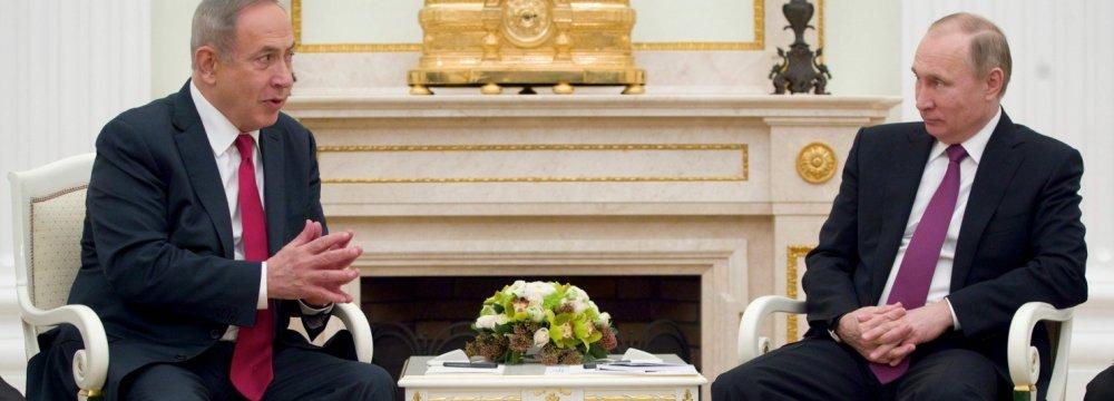 Putin Brushes Off Netanyahu's Anti-Iran Remarks