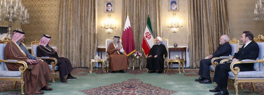 Qatari Emir in Tehran Amid Regional Efforts to Defuse Tensions