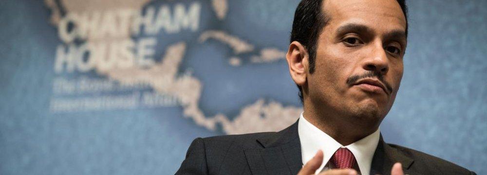 Qatari FM: Blockade Pushes Us Toward Iran