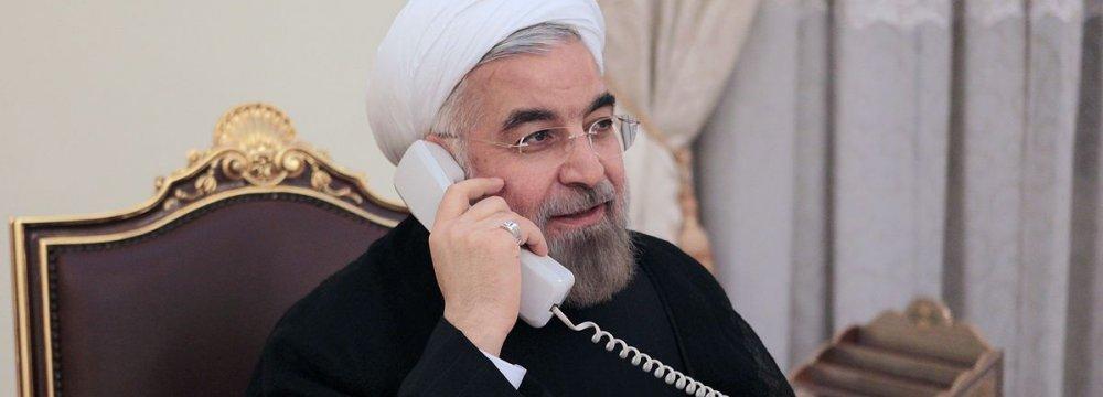 Rouhani, Ghani Talk on Phone