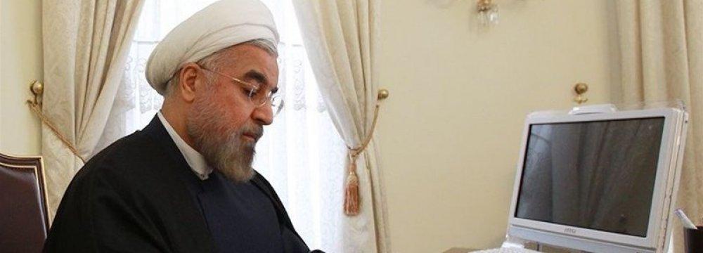 Rouhani Congratulates Jordan King