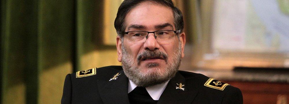 Shamkhani Will Address Sochi Security Conference