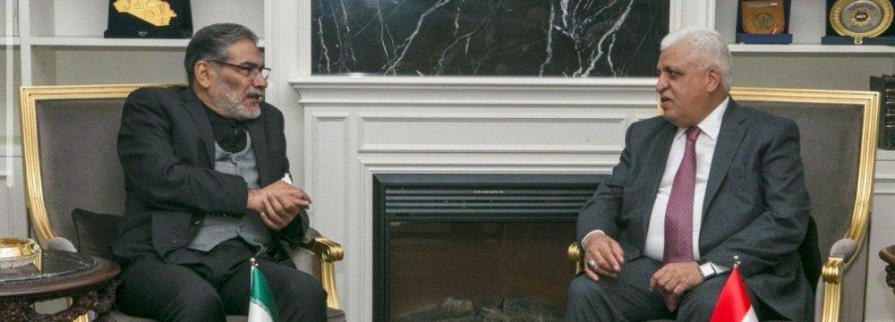 Shamkhani's Visit Signifies Tehran's Prominent Role in Iraq