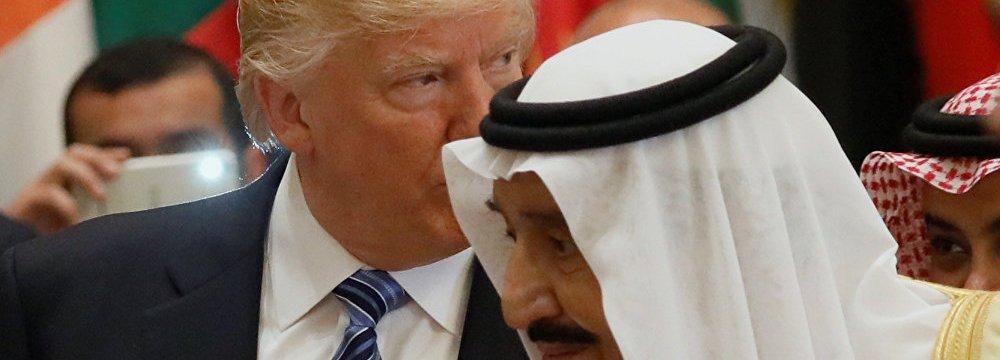 The US president visited Riyadh last weekend to attend an Arab-American summit.