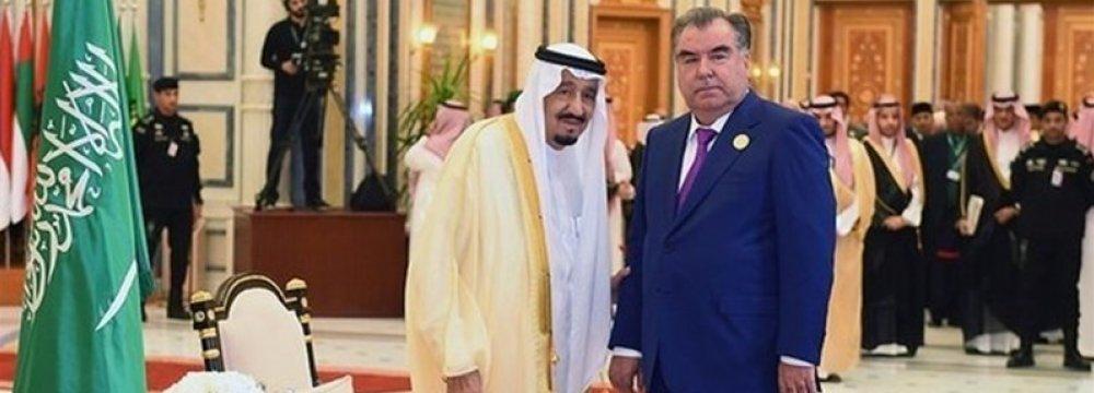 Dushanbe Accused of Doing Saudi Bidding