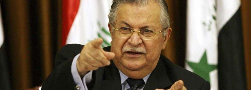 Iraqi  Ex-President  to Visit