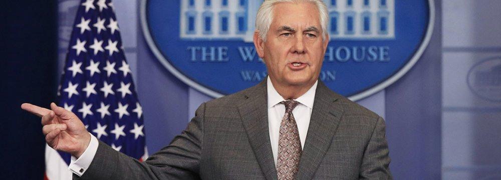 Iran to Dominate Tillerson Talks in Europe