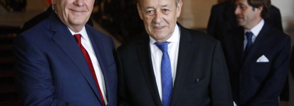 Tillerson Presses Europe on Iran, as France Bristles