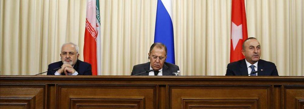 Trio's Top Diplomats to Meet on Syria