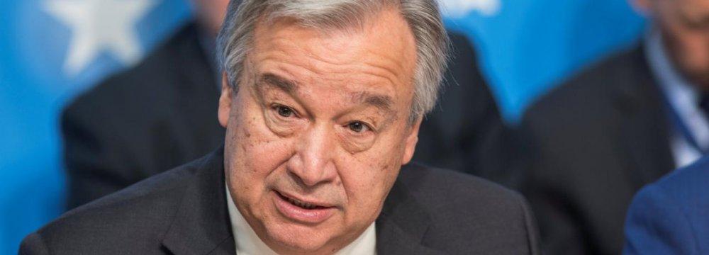 UN Chief: Persian Gulf De-Escalation Crucial