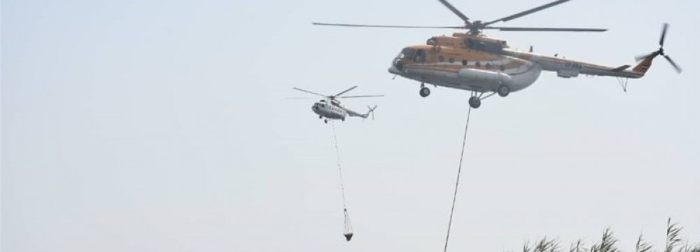 IRGC Choppers Helping Iraq Contain Wildfire