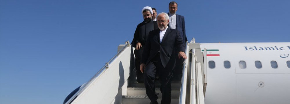 Foreign Minister Mohammad Javad Zarif's tour of Africa takes him to South Africa, Uganda and Niger.