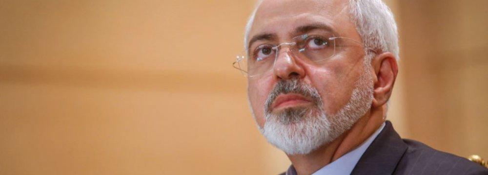 Zarif: Israel Poses Primary Threat to Muslim World
