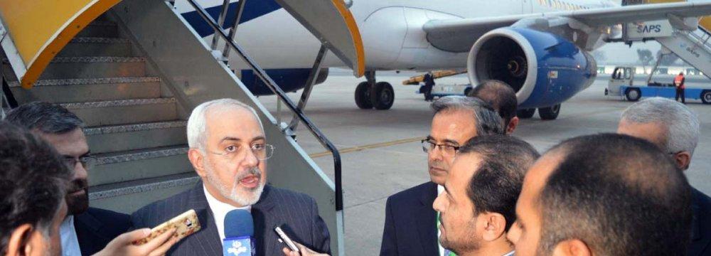 Zarif in Oman