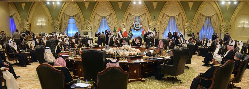 Heads of states of the (Persian) Gulf Cooperation Council in a meeting. (File Photo)