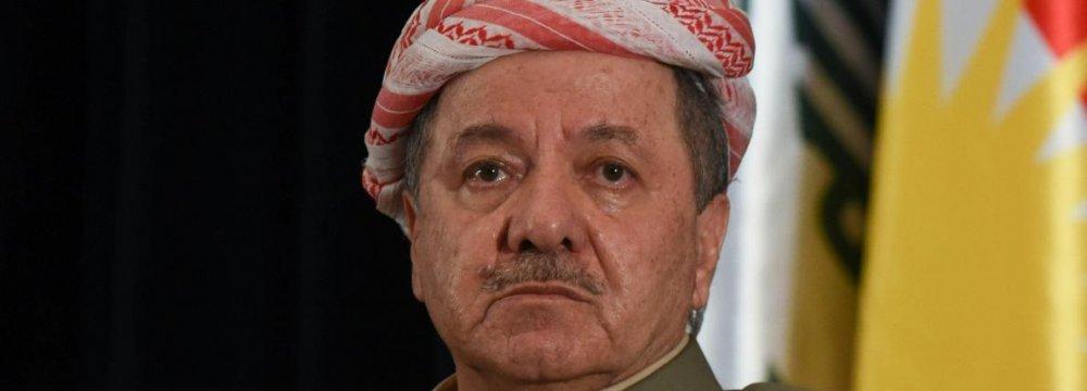 Kurdish Leader Masoud Barzani  Confirms Intention to Step Down