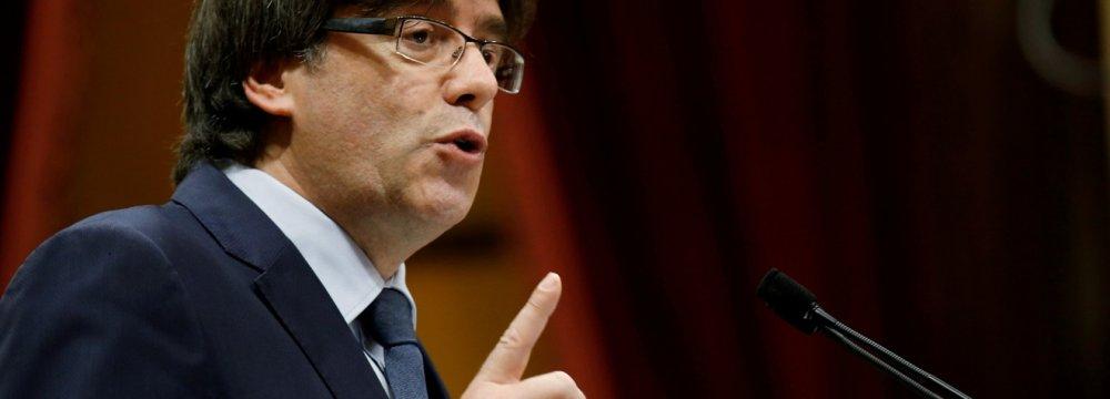 Puigdemont  Blasts Spain
