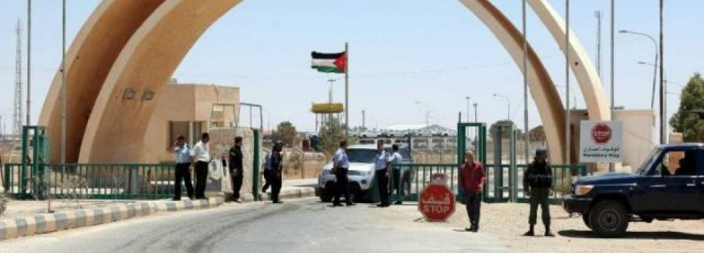Jordan Border Crossing With Iraq to Reopen