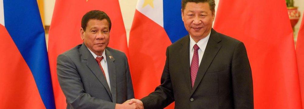 Duterte: China's Xi Threatened War