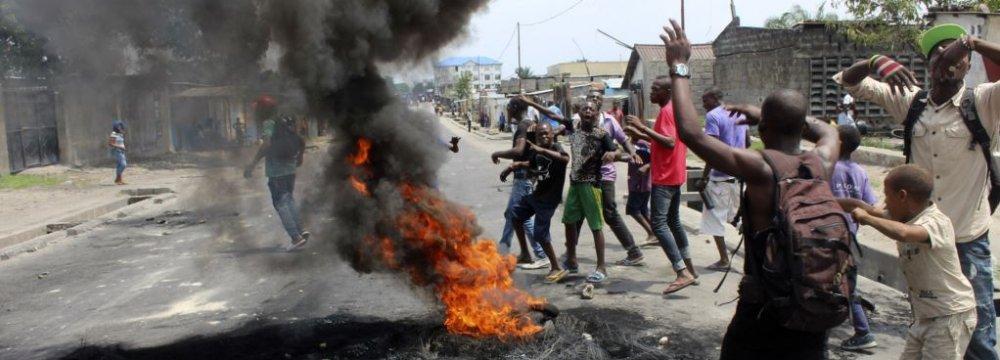 Five Dead in  Anti-Kabila Protests in DRC
