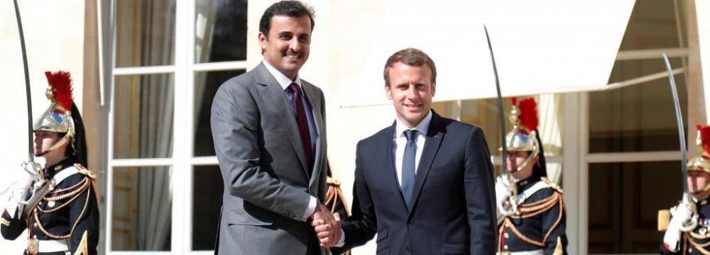 Macron Urges Lifting Qatar Embargo