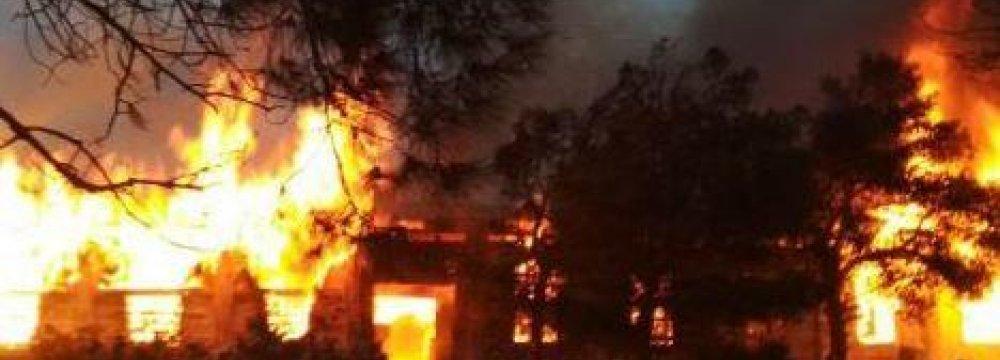 Baku Centre Hit  by Fire, 24 Dead