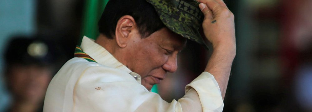 Philippine President Duterte Declares Withdrawal From ICC