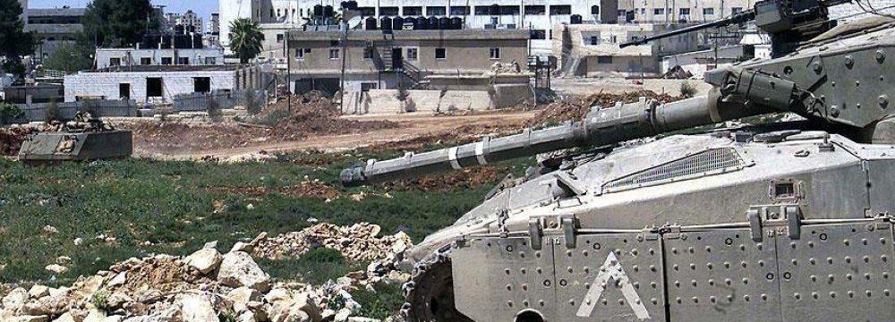 Israeli Tanks  Hit Gaza Strip
