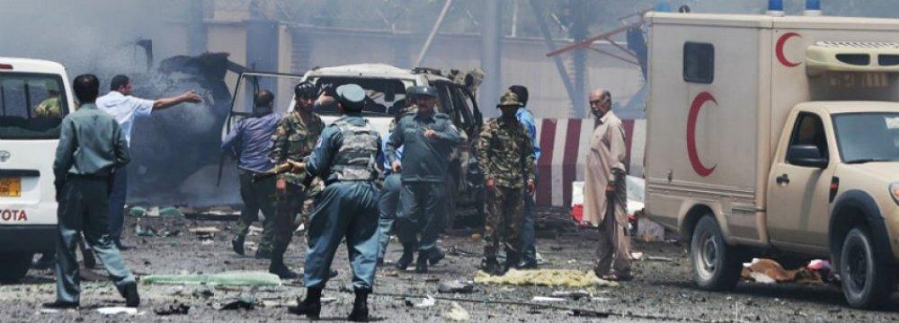 Suicide Blast  Hits Kabul, Killing  at Least 20