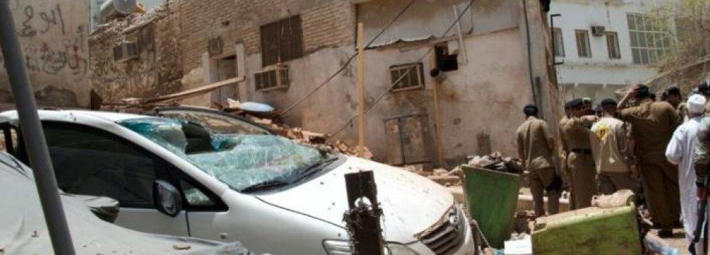 Bomber Planning Mecca Blast Blows Himself Up