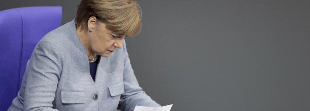 Merkel: Still Lots of Work to Do in German Coalition Talks