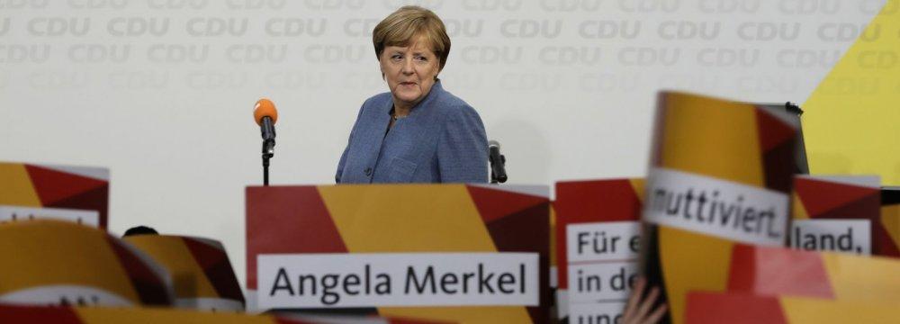Merkel's Allies Insist on Conservative Unity Before Coalition Talks
