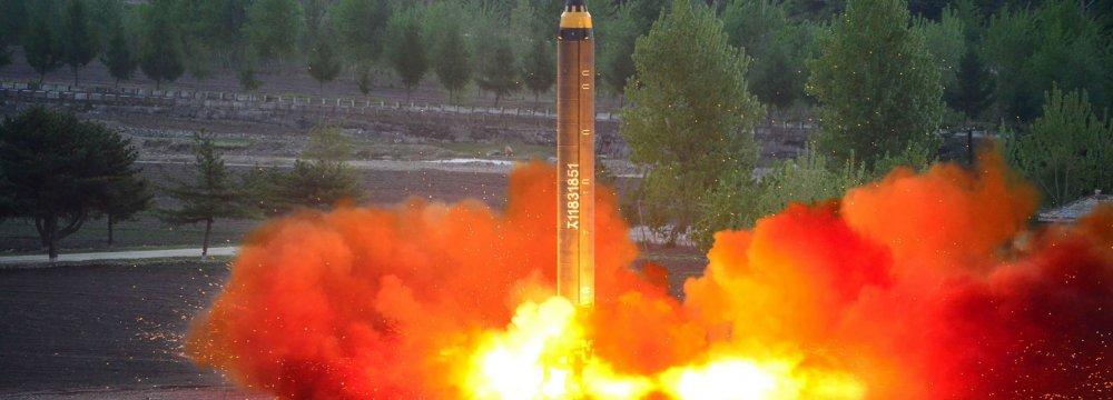 North Korea tested a longer-range missile last weekend (File Photo)
