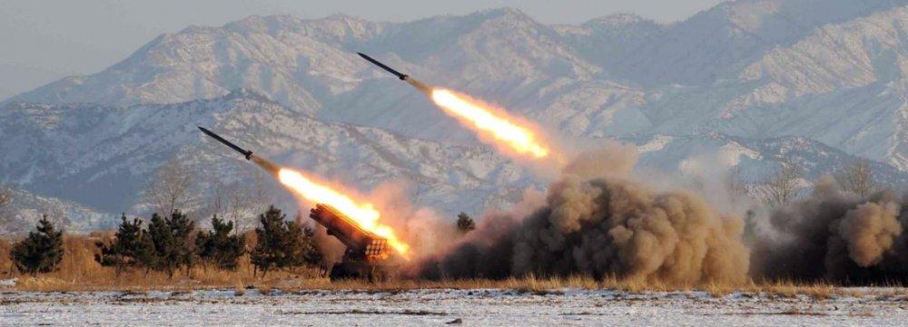 North Korea Tests Short-Range Missiles as S. Korea, US Conduct Drills