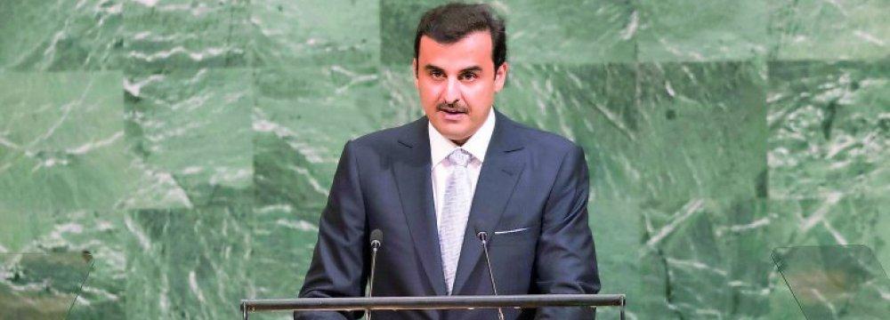 Qatar Emir Condemns Saudi-Led Blockade